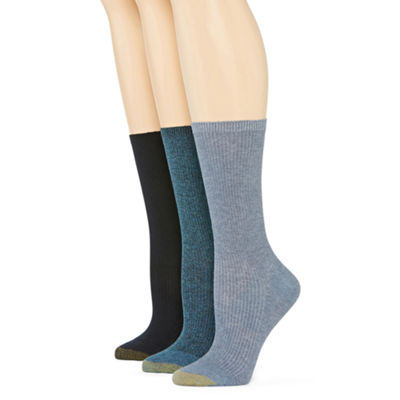 GoldToe® Women's 3-pk. Non-Binding Crew Socks