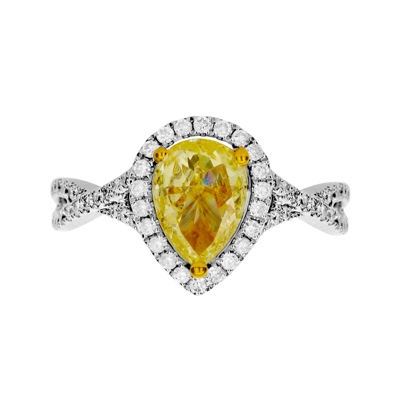 LIMITED QUANTITIES 1½ CT. T.W. White and Color-Enhanced Yellow Diamond Ring