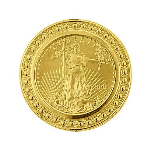 14K Yellow Gold 1/10 oz. Liberty Dollar Coin Ring