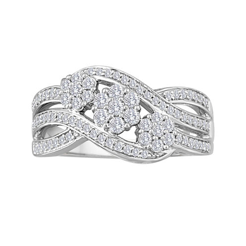 diamond blossom 1/2 CT. T.W. Diamond 3-Stone Ring