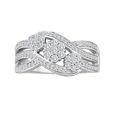 diamond blossom 1/2 CT. T.W. Diamond 3-Stone Ring