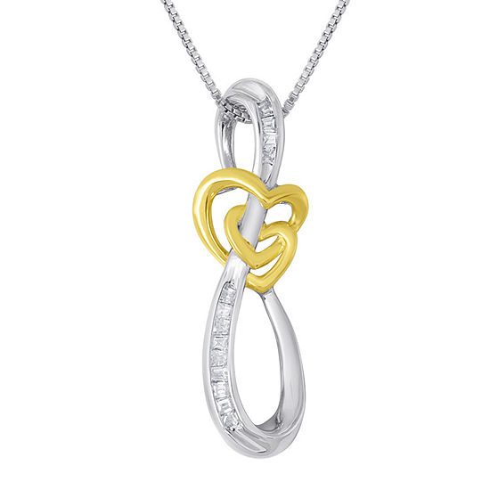 ForeverMine® 1/10 CT. T.W. Diamond Swirl Pendant Necklace