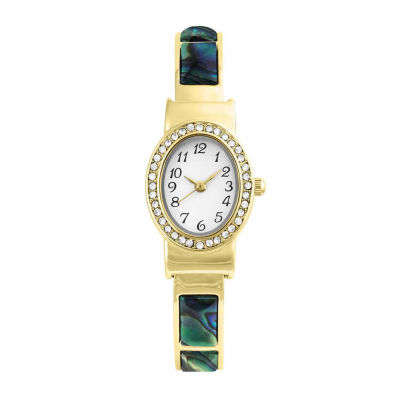 Mixit® Womens Gold-Tone and Turquoise Cuff Watch