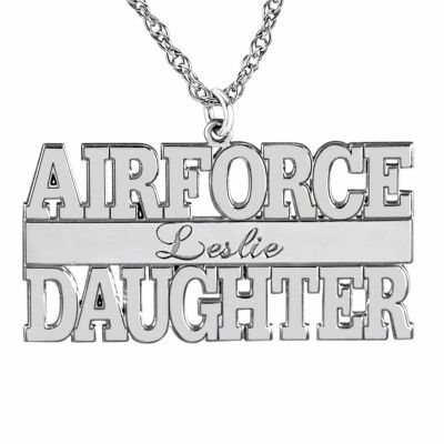 Personalized Airforce Daugther Name Pendant Necklace