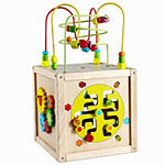 Classic Toy Toddler Wooden Multi-Activity Cube