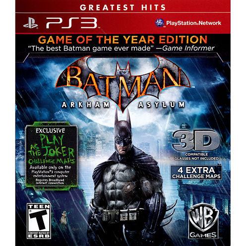 Batman: Arkham Asylum - Game of the Year Edition-Playstation 3