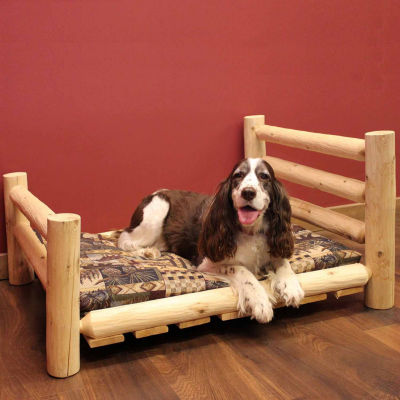 Wood Log Pet Bed