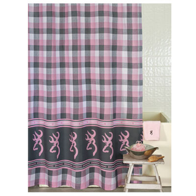 Browning Buckmark Plaid Shower Curtain