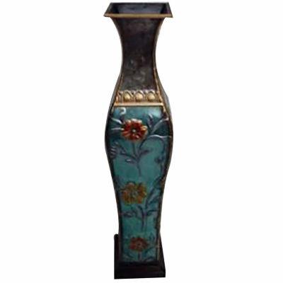 """24"""" Multicolor Metal Trumpet Vase"""