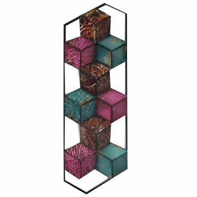 Multi Cubes Right Wall Decor