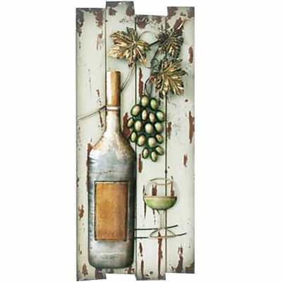 Bottle On Board Wall Decor