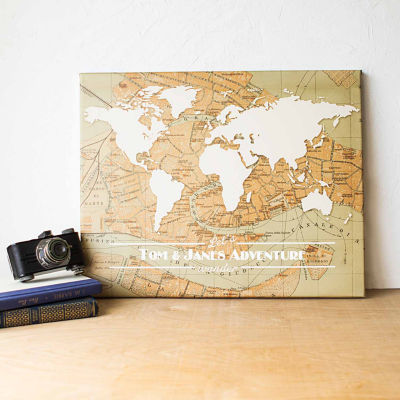 Cathy's Concepts Personalized Travel the World Canvas