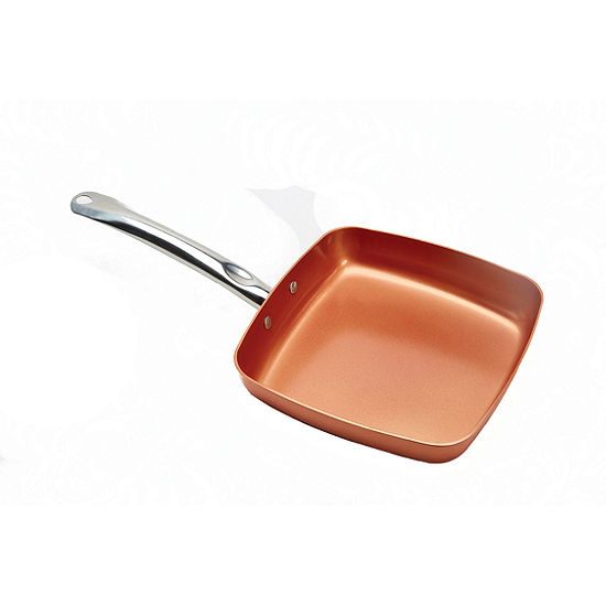 "As Seen On TV Copper Chef 9.5"" Nonstick Square Frying Pan"