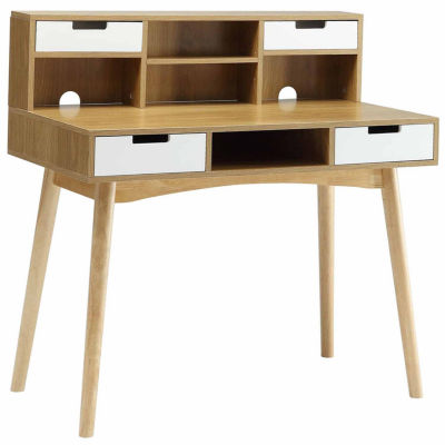 Convenience Concepts Designs2Go Oslo Desk With Hutch