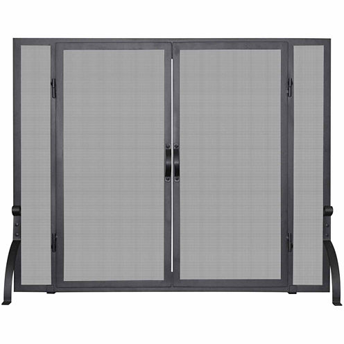 Blue Rhino Single Panel Wrought Iron Fireplace Screen
