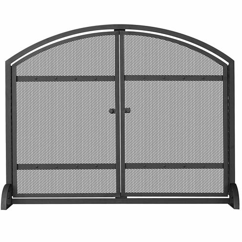 Blue Rhino Single Panel Fireplace Screen with Doors & Rivets