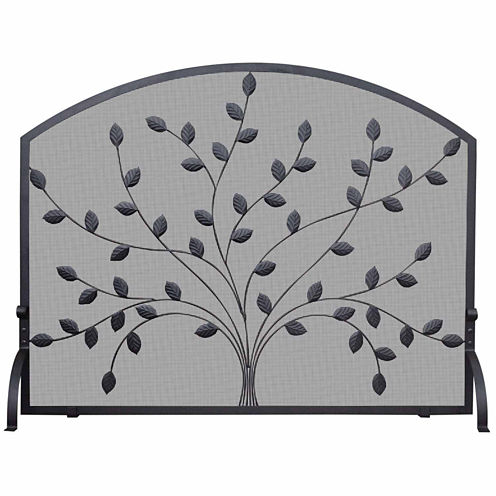 Blue Rhino Single Panel Wrought Iron Fireplace Screen
