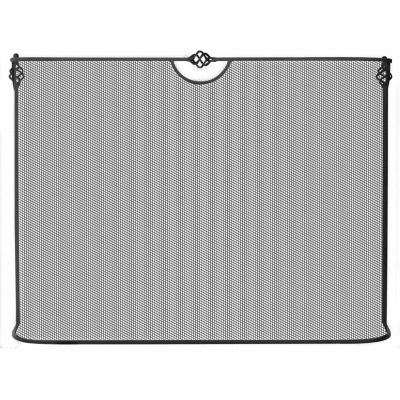 Single Panel  Wrought Iron Sparkguard Fireplace Screen
