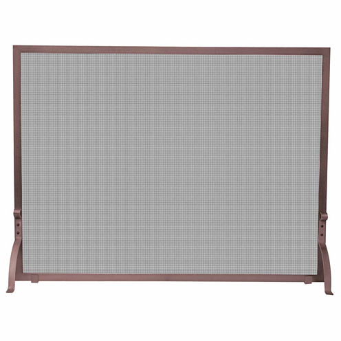 Blue Rhino Single Panel Antique Finish Fireplace Screen