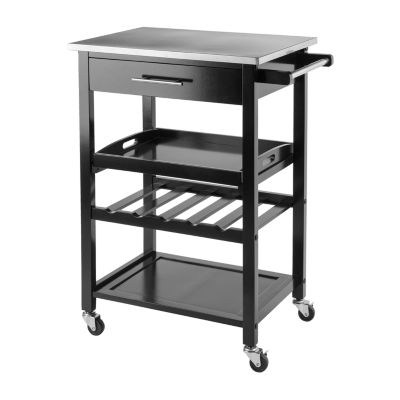 Winsome Anthony Kitchen Cart Stainless Steel
