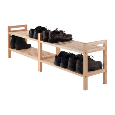 Winsome Mercury 2-Pc Stackable Shoe Rack Set