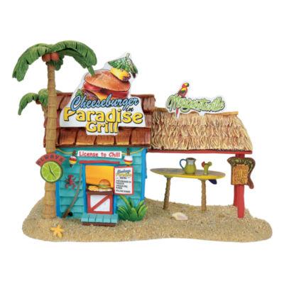 Margaritaville Paradise Grill Lit House Figurine