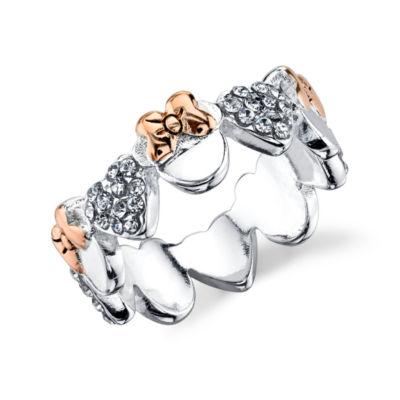 Disney Womens Genuine Clear Silver Over Brass