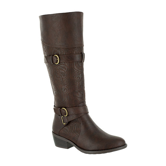 Easy Street Womens Kelsa Riding Boots Block Heel