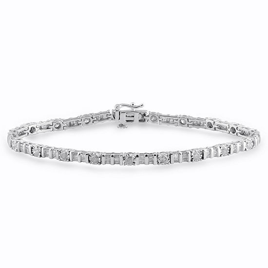 2 CT. T.W. Genuine White Diamond 10K Gold Tennis Bracelet