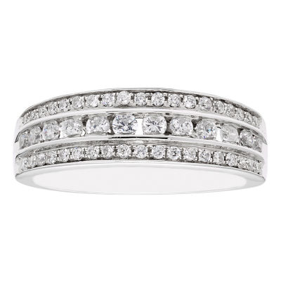 Modern Bride Signature 3MM 1/2 CT. T.W. Genuine White Diamond 10K Gold Wedding Band