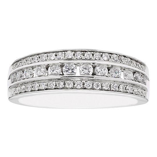 Modern Bride Signature 3MM 1/2 CT. T.W. Genuine White Diamond 10K Gold Wedding Band