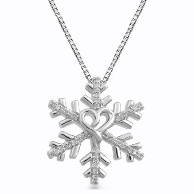 Limited Edition Hallmark Diamonds 1/10 CT. T.W. White Diamond Sterling Silver Pendant Necklace
