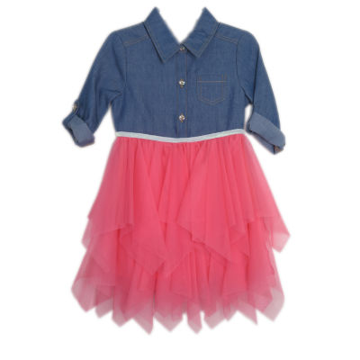 Lilt Long Sleeve Skater Dress - Toddler Girls