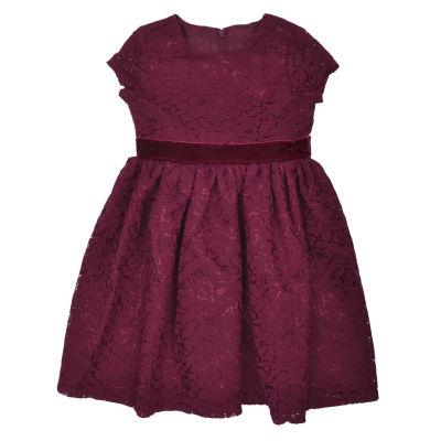 Nanette Baby Short Sleeve Party Dress - Toddler Girls