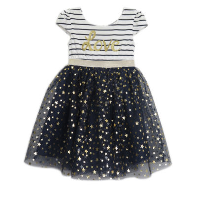 Lilt Short Sleeve Tutu Dress - Preschool Girls