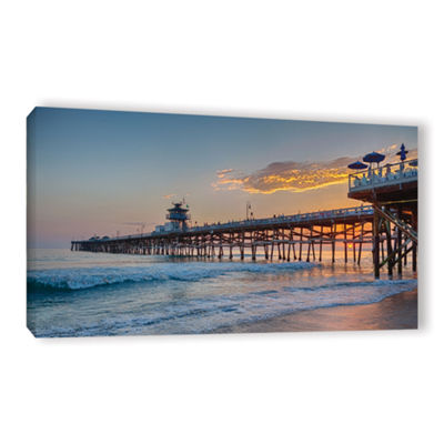 Brushstone There Will Be Another One San ClementePier Sunset Gallery Wrapped Canvas Wall Art