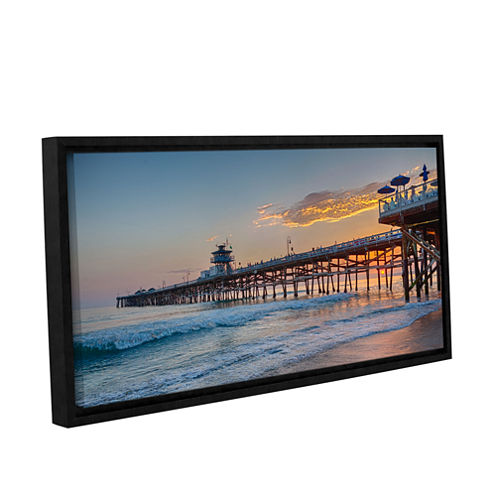 Brushstone There Will Be Another One San ClementePier Sunset Gallery Wrapped Floater-Framed CanvasWall Art