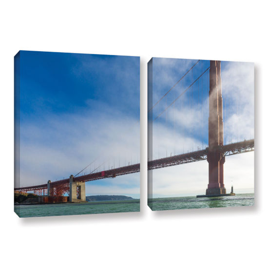 Brushstone Too Tall 2-pc. Gallery Wrapped Canvas Wall Art