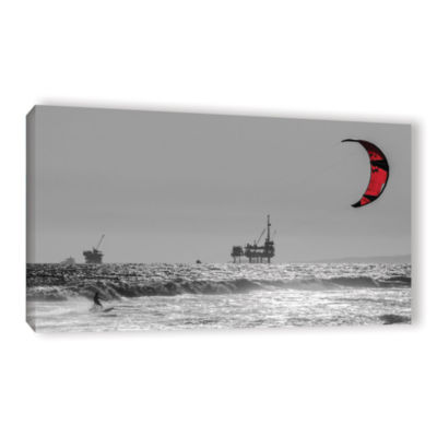 Brushstone Wave And Wind Energy Are More Fun Gallery Wrapped Canvas Wall Art