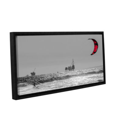 Brushstone Wave And Wind Energy Are More Fun Gallery Wrapped Floater-Framed Canvas Wall Art