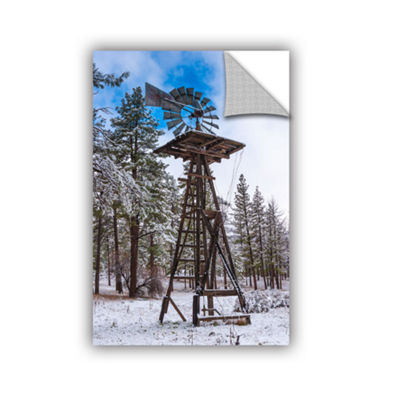 Brushstone Windmill In The Snow Removable Wall Decal