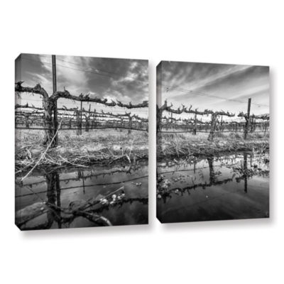 Brushstone Winter Wine 2-pc. Gallery Wrapped Canvas Wall Art