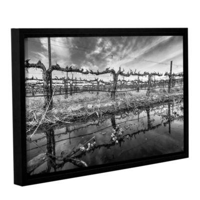 Brushstone Winter Wine Gallery Wrapped Floater-Framed Canvas Wall Art