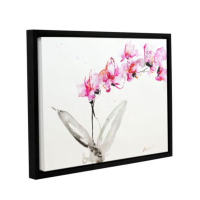 Brushstone Orchid 2 Gallery Wrapped Floater-FramedCanvas Wall Art