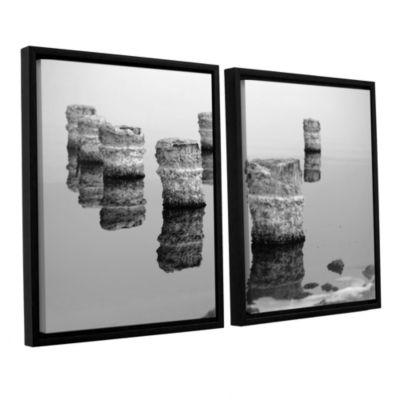 Brushstone Zed Black And White 2-pc. Floater Framed Canvas Wall Art