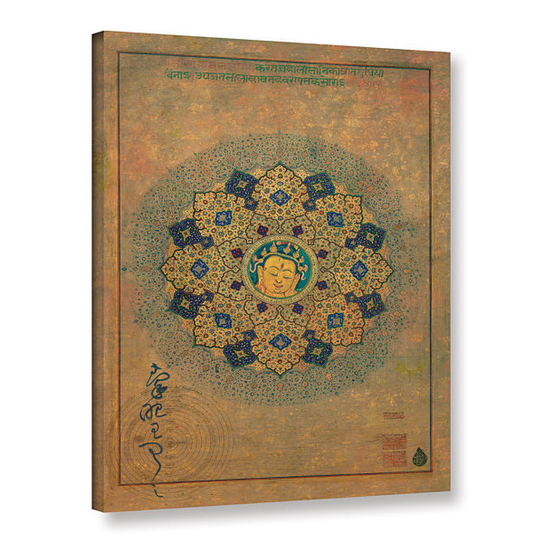 Brushstone Smiling Buddha Gallery Wrapped Canvas Wall Art