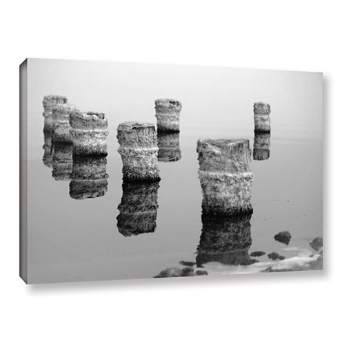 Brushstone Zed Black And White Gallery Wrapped Canvas Wall Art