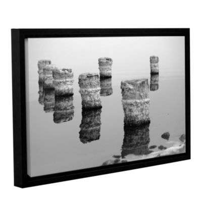 Brushstone Zed Black And White Gallery Wrapped Floater-Framed Canvas Wall Art