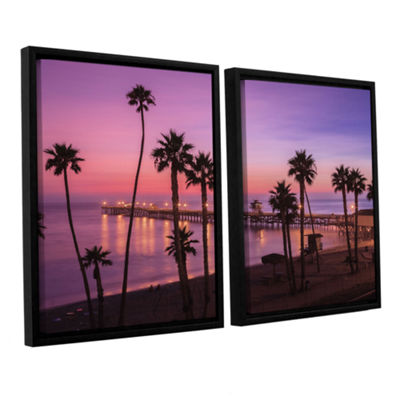 Brushstone San Clemente Sunset Meditation 2-pc. Floater Framed Canvas Wall Art