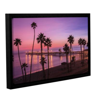 Brushstone San Clemente Sunset Meditation GalleryWrapped Floater-Framed Canvas Wall Art